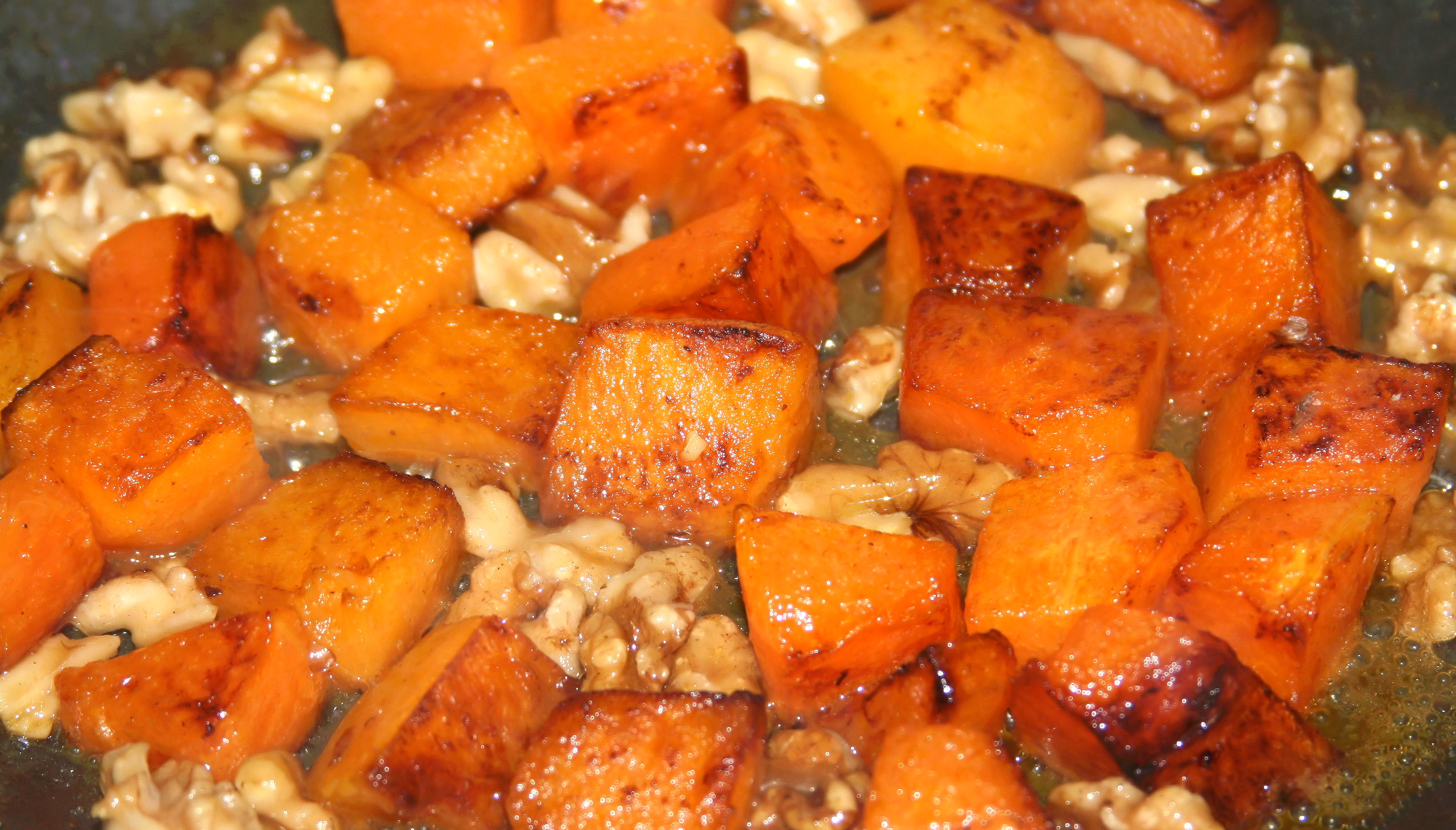 Butternut Squash and Walnuts with Marsala Sauce